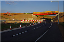 SD4764 : Temporary bridge over Slyne Road (A6) by Ian Taylor
