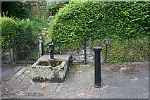 SK2375 : Village Well and Pump by Anne Burgess