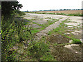 TG4019 : Part of the perimeter track on Ludham airfield by Evelyn Simak