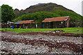 NG8409 : Huts on the foreshore, Corran by Ian Taylor