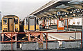 SY6779 : Weymouth Station, buffer-stops 1994 by Ben Brooksbank