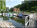 TQ7458 : View from Allington Lock by Marathon