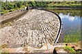 NT3054 : Almost dry spillway at Gladhouse Reservoir by Jim Barton