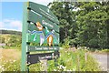 NT2839 : Signboard for Glentress 7 stanes by Jim Barton