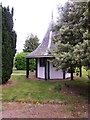 NO5298 : Gazebo in the grounds of the Huntly Arms Hotel by Stanley Howe