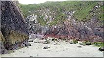 SM7624 : Part of Caerfai Bay near St. Davids, Pembs by Jeremy Bolwell