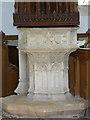 SU6491 : Ewelme Church, the font by Alan Murray-Rust