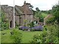 SU6491 : Ewelme, God's Place garden and the school house by Alan Murray-Rust