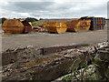 SO1800 : Rusting skips SW of  Penyfan Caravan and Leisure Park by Jaggery