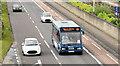 J3775 : City Airport bus, Sydenham bypass, Belfast (July 2014) by Albert Bridge