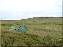 SH7941 : Wild camp beside the Afon Serw by Richard Law