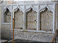 SU6396 : Church of St Mary, Chalgrove - piscina and sedilia by Alan Murray-Rust
