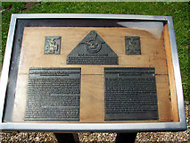 TF6303 : Memorial plaque by St Mary's church by Evelyn Simak