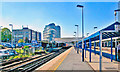 TQ0058 : Woking Station: SW from extended platforms by Ben Brooksbank