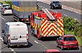 J3775 : Fire appliance (on call), Sydenham bypass, Belfast (July 2014) by Albert Bridge