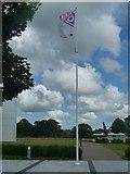 SU3715 : Ordnance Survey - Flying the flag by Rob Farrow