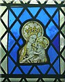 SP8510 : Weston Turville - St.Mary's - Stained glass panel by Rob Farrow
