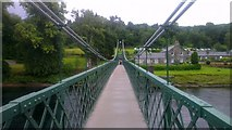 NN9357 : Footbridge over the River Tummel at Pitlochry by Mike Pennington