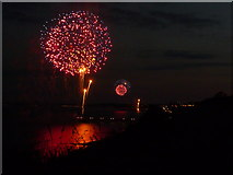 SZ1191 : Bournemouth: simultaneous firework displays by Chris Downer