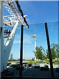 TQ3979 : The southern pylon of the cable car line by Shazz