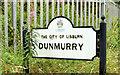 J2868 : Name sign, Dunmurry (July 2014) by Albert Bridge