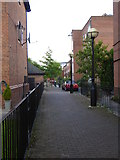 SJ8196 : Walkway between St Peter Basin and St Louis Basin by Rod Allday