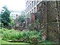 TQ3281 : London city wall on Noble Street by John M