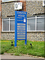 TM3864 : Carlton House sign by Adrian Cable