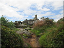SE2065 : Trig  Point  on  the  hill  behind  Brimham  House by Martin Dawes