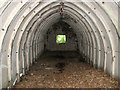 TG1521 : WW2 air raid shelter - interior by Evelyn Simak
