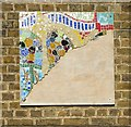 TQ3388 : Unfinished mosaic, Crowland Primary School by Julian Osley