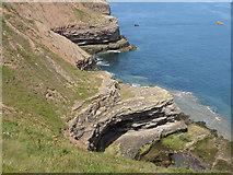 TA1281 : Rock formations, Carr Naze headland by Pauline E