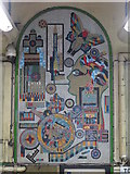 TQ2981 : The entrance to Tottenham Court Road tube station - Paolozzi mosaic by Mike Quinn