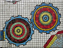 TQ2981 : Tottenham Court Road tube station - Paolozzi mosaic, lower hall (6) (detail) by Mike Quinn