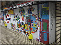 TQ2981 : Tottenham Court Road tube station - Paolozzi mosaic, Central Line (17) by Mike Quinn