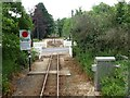 SY2592 : A3052 level crossing, Seaton Tramway by Christine Johnstone