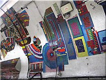 TQ2981 : Tottenham Court Road tube station - Paolozzi mosaic, Central Line (25) by Mike Quinn