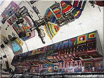 TQ2981 : Tottenham Court Road tube station - Paolozzi mosaic, Central Line (26) by Mike Quinn