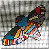 TQ2981 : Tottenham Court Road tube station - Paolozzi mosaic, Central Line (28) (detail) by Mike Quinn