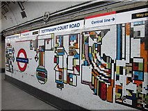 TQ2981 : Tottenham Court Road tube station - Paolozzi mosaic, Northern Line (4) by Mike Quinn