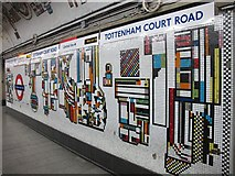 TQ2981 : Tottenham Court Road tube station - Paolozzi mosaic, Northern Line (6) by Mike Quinn