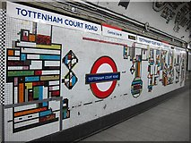 TQ2981 : Tottenham Court Road tube station - Paolozzi mosaic, Northern Line (15) by Mike Quinn