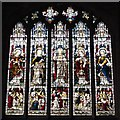NZ2464 : The Cathedral Church of St. Nicholas - stained glass window by Mike Quinn