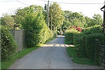 TQ2151 : Rectory Lane leading to Buckland level crossing by Hugh Craddock