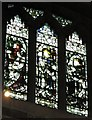 NZ2464 : The Cathedral Church of St. Nicholas - stained glass window, clerestory by Mike Quinn