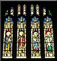 NZ2464 : The Cathedral Church of St. Nicholas - stained glass window, south aisle by Mike Quinn