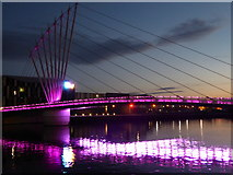 SJ8097 : Footbridge between North Wharf and Trafford Wharf by Rod Allday