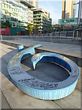 SJ8097 : 'Number 9' sculpture at Salford Quays by Rod Allday