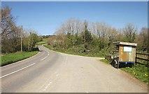 SX4668 : Roadside stall, Gawton by Derek Harper
