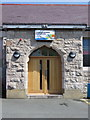 SJ1158 : Entrance porch to Ruthin Drill Hall/Youth Centre by John S Turner